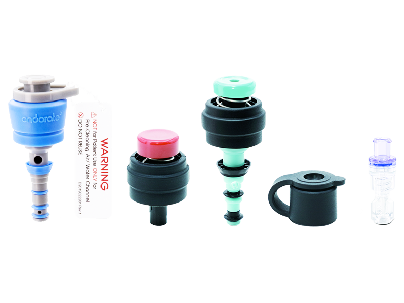 Single-use 5-Part Valve, Auxiliary Water Connector and Air/Water Channel Cleaning Adaptor Kit - Olympus Fitting