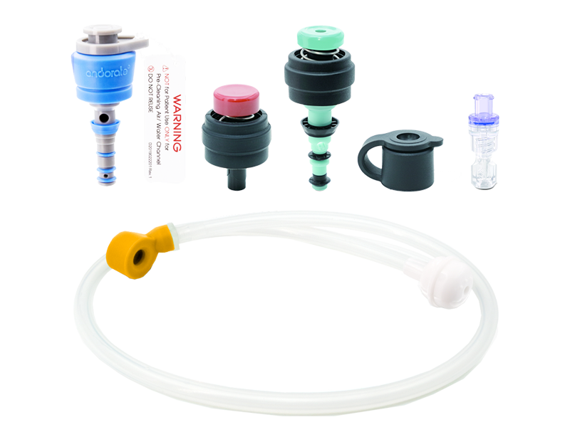 Single-use 6-Part Valve, Auxiliary Water Connector and Air/Water Channel Cleaning Adaptor Kit - Olympus Fitting